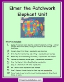 Elmer the Patchwork Elephant Unit - Friends and Elephants Printables