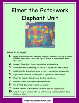 Elmer the Patchwork Elephant Unit - Friends and Elephants