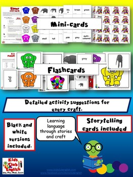 Elmer the elephant - Crafts and activities to learn through stories