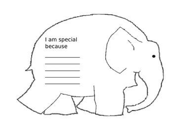 Elmer themed worksheet