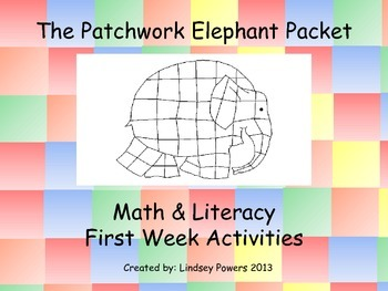 Patchwork Elephant Math & Literacy Packet for the first week of school
