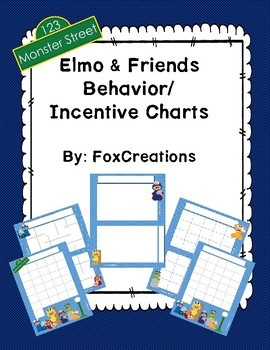 Elmo And Friends Behavior, Incentive, Potty Chart~ Early Childhood
