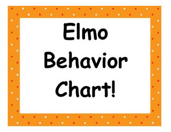 Elmo Behavior Chart!