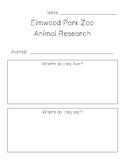 Elmwood Park Zoo Animal Research