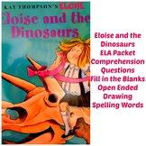 Eloise and the Dinosaur Reading Packet Early Readers Pre K 1st Comprehension ELA