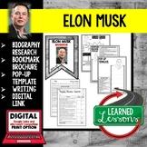 Elon Musk Biography Research, Bookmark Brochure, Pop-Up, Writing, Google
