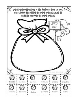 Elroy l'écureuil pratique ses nombres - Primary French Fall Math Activity