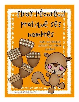Elroy l'écureuil pratique ses nombres - Primary French Fall Math Activity