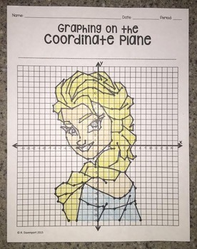 Ice Princess (Graphing on the Coordinate Plane Mystery Picture)