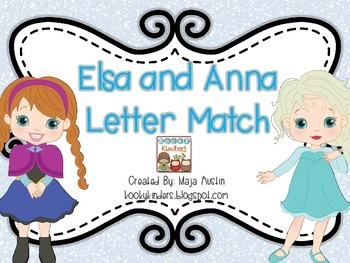Elsa and Anna Letter Match