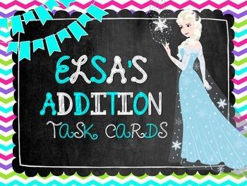 Elsa's Addition Task Cards