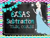Elsa's Subtraction Task Cards