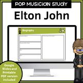 Elton John Pop Musician Study