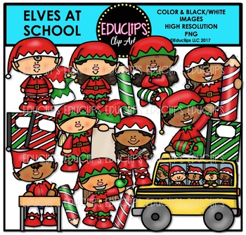Elves At School Clip Art Bundle {Educlips Clipart}