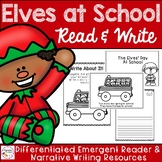 Elves At School Emergent Reader and Writing