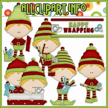 BUNDLED SET - Elves At Work Clip Art & Digital Stamp Bundle - Alice Smith