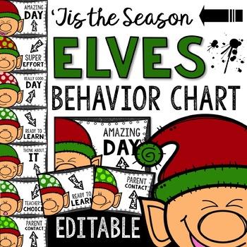Elves Behavior Chart: Editable Holiday Classroom Decor
