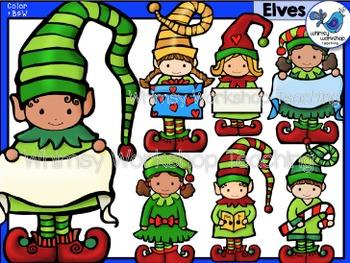 Elves Clip Art Set - Whimsy Workshop Teaching
