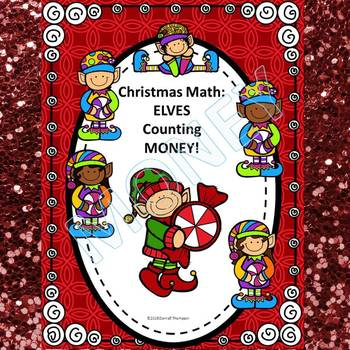 Christmas Math: Elves Counting Money (No Prep Worksheets)