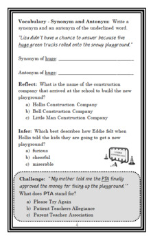 Elves Don't Wear Hard Hats (The Bailey School Kids) Novel Study / Comprehension