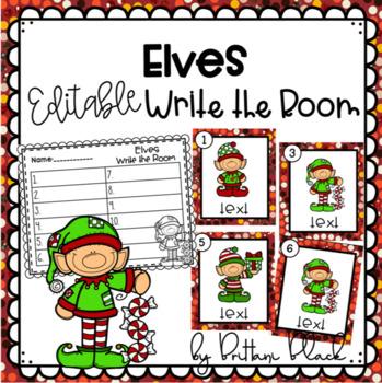 Elves- Editable Write the Room