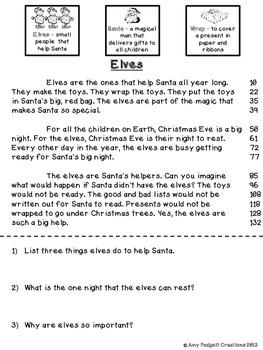 Elves Extravaganza: Thematic Elf CCSS Unit for Math and ELA