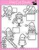 Borders - Christmas Clip Art - Elves Holding Frames  - Commercial Use