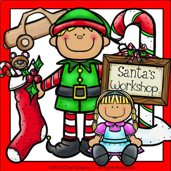 Elves Making Toys Clip Art Set - Chirp Graphics