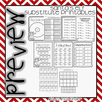 Elves Mini Unit- Printables Perfect for Sub Plans!