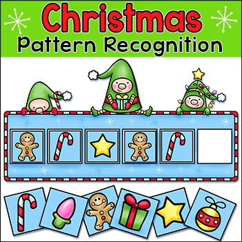 Christmas Math Pattern Recognition Activity - Elves