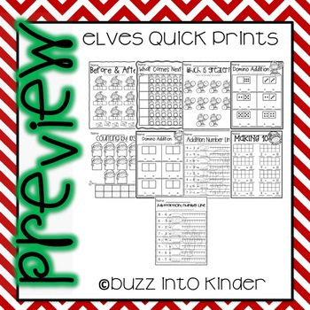 Elves Quick Prints for Kindergarten : No PREP