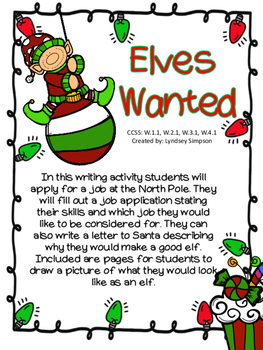 Elves Wanted Christmas Application