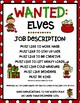 Elves Wanted Writing Activity