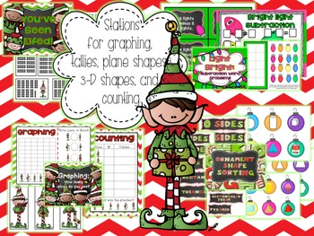 Elf Stations for 10 Math and 2 Literacy