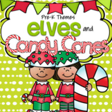 Elves and Candy Canes Literacy and Math Centers Activities