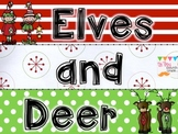 Elves and Deer a Christmas MATH game for older kids...