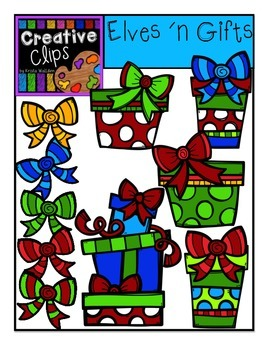 Elves and Gifts {Creative Clips Digital Clipart}