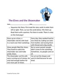 Elves and the Shoemaker Sequencing Vocabulary