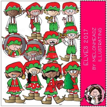Elves clip art - 2017 - COMBO PACK - by Melonheadz