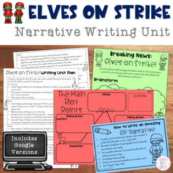 Elves on Strike Christmas Narrative Writing Unit