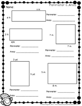 An Area & Perimeter Christmas Unit: Elving Around