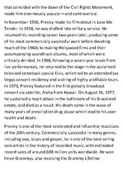 Elvis Presley Handout