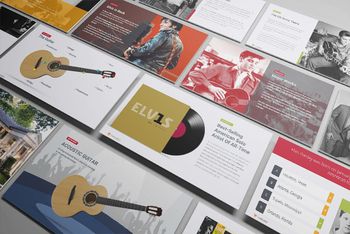 Elvis Presley—The King of Rock and Roll 51 Slide PowerPoint Presentation w/ Quiz