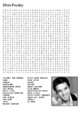 Elvis Presley Word Search