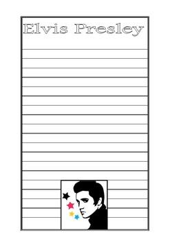 Elvis Presley Writing Paper