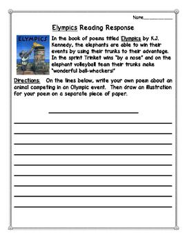 Elympics Reading Response Activities