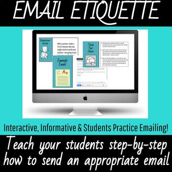 Email Etiquette--How to Properly Write An Email to Your Teacher--Grades 7-12
