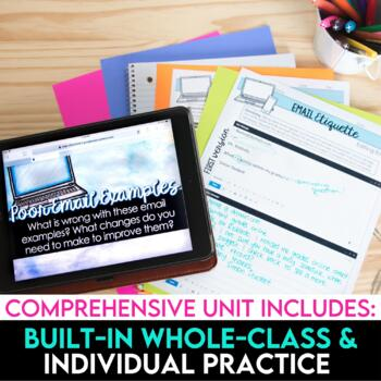 Email Etiquette: How to Write an Email to Teachers PowerPoint and Lesson