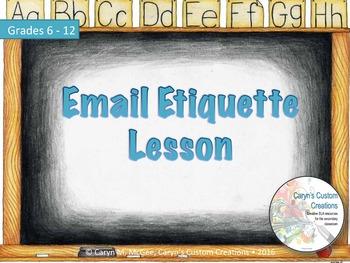 Email Etiquette Lesson