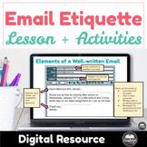 Email Etiquette Lesson + Activities w/ Google slides